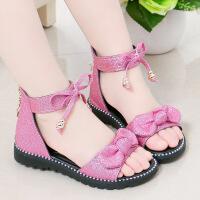 单鞋夏天女童7真皮4小童凉鞋女孩穿的十公主5小学生韩版凉鞋12岁9