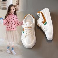 女童小白鞋2020春季新款童鞋百搭布鞋儿童透气运动板鞋