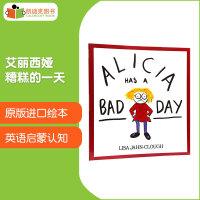 美国进口 情绪处理 Alicia Has a Bad Day 艾丽西娅糟糕的一天 3-7岁儿童故事绘本平装