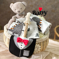 新生儿礼盒婴儿用品初生男宝宝纯棉衣服春秋夏季满月礼物高档套装