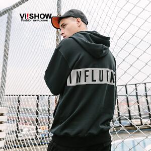 VIISHOW2018新款春季卫衣男 韩版潮流套头连帽男士宽松外套男生