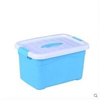 透明箱子 中号卫生巾电线小号储物箱收纳整理箱塑料有盖家庭用具盒子透明箱