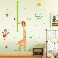 装饰贴卡通儿童身高贴纸音乐小鹿动物幼儿园学校卧室装饰墙贴纸测量身高 音乐小鹿身高贴 特大