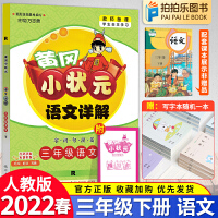 黄冈小状元语文详解三年级下册人教版 2020春新版
