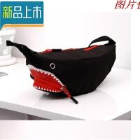 鲨鱼小腰包胸包男女学生休闲户外包韩版潮户外运动斜挎小包定制