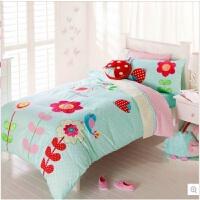 女孩儿童三件套 棉套件四件套床上用品女款床品 鸟语花香 其它