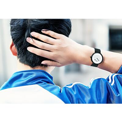 无指针时尚创意概念男表韩版个性学生情侣手表女款户外防水石英表潮流 品质保证 售后无忧 支持货到付款