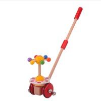 木质卡通动物推推乐 婴幼儿童单杆学步手推车 宝宝拖拉玩具1周岁