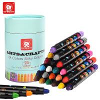 【1件9折2件8】特宝儿 儿童蜡笔宝宝旋转蜡笔无毒可水洗涂鸦婴幼儿画笔24支装