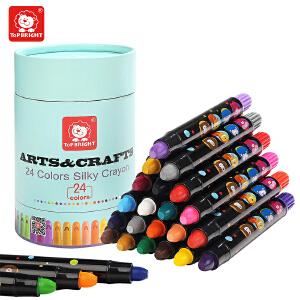 【跨店2件5折】特宝儿JORMA24色丝滑蜡笔 可水洗儿童蜡笔