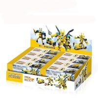 儿童积木玩具 变形金刚大黄蜂拼装积木玩具汽车人模型男孩儿童礼盒装生日礼物 雷翼机甲战神648PCS 一套起发 一套八盒