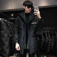 羽绒服男冬季2019新款韩版潮流中长款休闲帅气青年学生工装外套潮