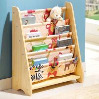 御目 书架 简易家用绘本架子男孩女孩幼儿园图书架男女宝宝卡通玩具收纳架室内书柜儿童家具