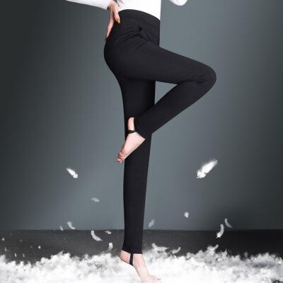 秋冬羽绒裤女外穿打底裤新款高腰双面加厚棉裤弹力小脚裤 黑色 一般在付款后3-90天左右发货,具体发货时间请以与客服协商的时间为准