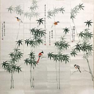 刘向峰(花鸟四条屏)中国国画家协会会员