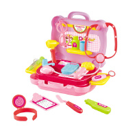 B+BG ENSWEET 儿童过家家玩具厨房餐具套装 仿真小医生医具套装 手提箱扮演玩具