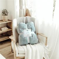 色法莱绒加厚冬季毛毯被子珊瑚绒毯子床单学生空调午睡毯单双人 梦灰蓝 麦芽款AF 2*2.3M 双人毯