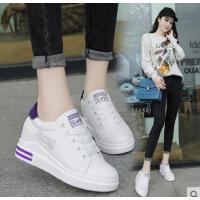 内增高小白鞋女网红同款韩版学生透气厚底港风板鞋休闲白鞋子