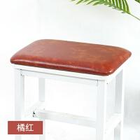 四季皮革软包硬坐垫定制穿鞋柜换鞋凳卡座椅子凳子皮垫子长方形j
