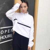 韩观春秋女装韩版学院风短款长袖套头卫衣外套简约宽松显瘦学生上衣潮