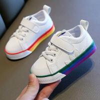 儿童运动鞋男童秋季宝宝板鞋百搭白色单鞋