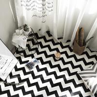 黑白几何北欧简约现代客厅沙发茶几地毯 卧室床边满铺长方形j