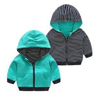 双面穿卫衣 婴儿卫衣0岁5个月男宝宝套头圆领上衣秋冬装秋