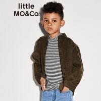 【折后价:199.6】littlemoco复古灯芯绒slogan贴饰长袖衬衫KA173SHT105