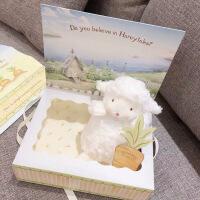 美国BunniesByThe Bay小坐羊毛绒玩具可爱柔软小绵羊布娃娃公仔女