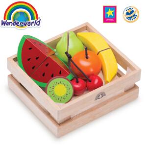 [当当自营]泰国Wonderworld 水果篮 切水果玩具 早教积木切切乐厨房玩具幼儿园玩具