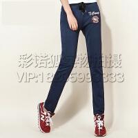 时尚韩版卫裤薄款透气运动裤女长裤夏季女裤针织休闲修身显瘦
