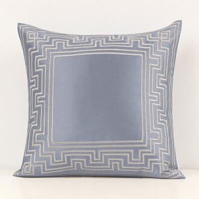新中式家居靠垫沙发抱枕 客厅靠背枕腰枕简约抱枕套床头靠枕