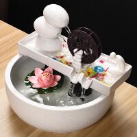 陶瓷流水摆件风水乔迁开业礼品宠物饮水自动循环喷泉加湿器