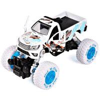 合金回力车男孩玩具车仿真小汽车模型儿童涂鸦避震车卡通大脚