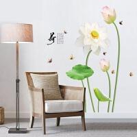 墙画贴纸中国风花瓶墙贴纸客厅卧室墙壁房间墙面床头装饰墙画自粘墙纸贴画 超大