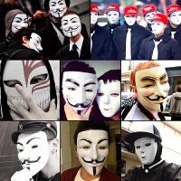 �f圣�抖音街舞鬼恐怖V字仇�㈥�小丑面具男成人全�死神假面道具