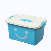 手提加厚透明塑料收�{箱衣服玩具塑料整理箱大中小��ξ锵渲苻D箱