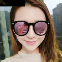 太阳镜女士潮 时尚大框墨镜 复古炫彩司机镜圆脸个性眼镜