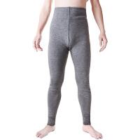 秋冬款中年男士保暖打底裤弹力修身高腰羊毛裤双层加厚紧身束脚裤