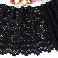 黑色蕾丝花边辅料服饰裙边毛衣下摆水溶刺绣加厚宽边布料