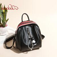 【支持礼品卡】doodoo双肩包女韩版2018新款软皮背包休闲百搭时尚包包旅行包