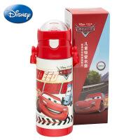 迪士尼正品不锈钢保温杯 儿童便携380ml水壶 创意个性弹盖吸管杯