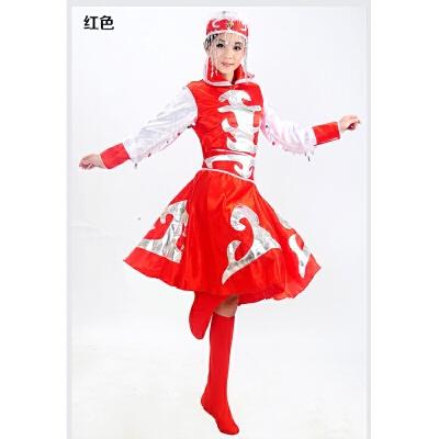 蒙古舞蹈服装演出服少数民族鸿雁蒙古袍广场筷子舞女蒙族服饰 发货周期:一般在付款后2-90天左右发货,具体发货时间请以与客服协商的时间为准