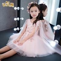 女童公主裙花童礼服钢琴演出服蓬蓬裙春夏新款儿童礼服主持人礼服