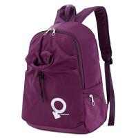 新款户外运动双肩包防水超轻便登山旅行包旅游休闲徒步背包男女款 紫色 1082-款2