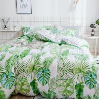 ins简约全棉床品套件纯棉双人被套床单笠少女心2.0m四件套 2.0m(6.6英尺)床 床单式