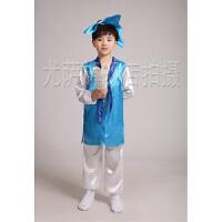 儿童书童古装汉服男女童国学弟子规表演服六一幼儿三字经演出服装