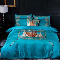 家纺欧式四件套加厚保暖双面绒一米八床单被罩意大利宝宝绒2x2.3 勃兰登堡 -WY