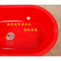 �和�浴盆特大�洗澡盆塑料泡澡�L方盆超大加厚