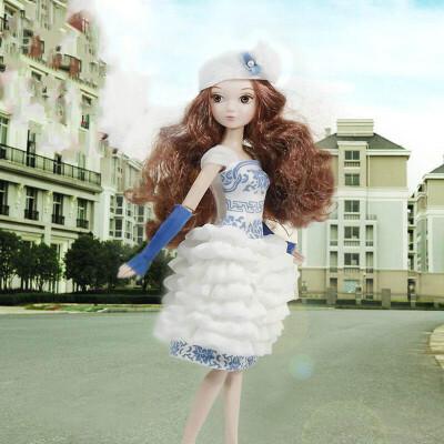 可儿娃娃关节体名媛可儿 水悦青花6092 芭比娃娃玩具
